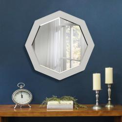 Зеркало восьмиугольное с фацетом на основе ЛДСП Art-com Z1 Белый