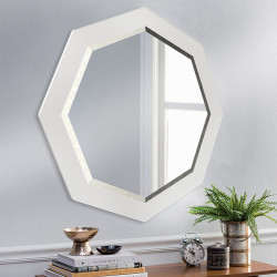 Зеркало восьмиугольное с фацетом на основе ЛДСП Art-com Z2 Белый