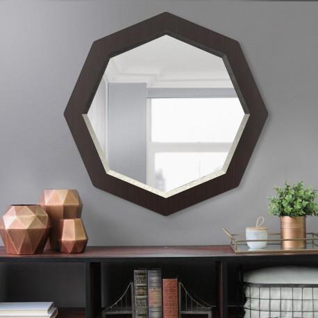 Зеркало восьмиугольное с фацетом на основе ЛДСП Art-com Z2 Венге