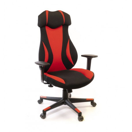 Кресло Эпсилон PL SR чёрно-красный А-класс