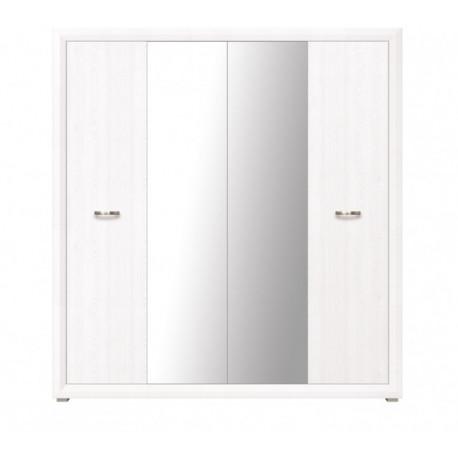 Шкаф четырехдверный с зеркалом BRW Маркус SZF 4D Джанни