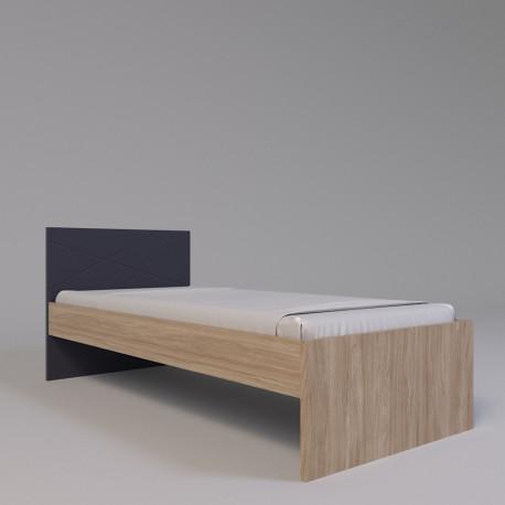 Кровать подростковая  Х-09 графит Х-Скаут Санти Мебель