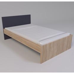 Кровать полуторная Х-12 графит Х-Скаут Санти Мебель