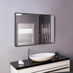 Зеркало в алюминиевой раме ЛДСП Art-com Alum Черный