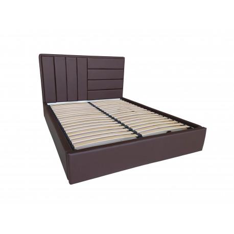 Кровать с мягким изголовьем Sofi chocolate Viorina-Deko