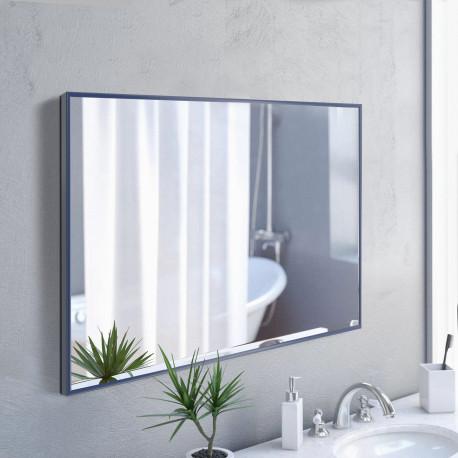Зеркало в алюминиевой раме ЛДСП Art-com Alum Синий