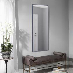 Зеркало ростовое в алюминиевой раме ЛДСП Art-com Alum Синий