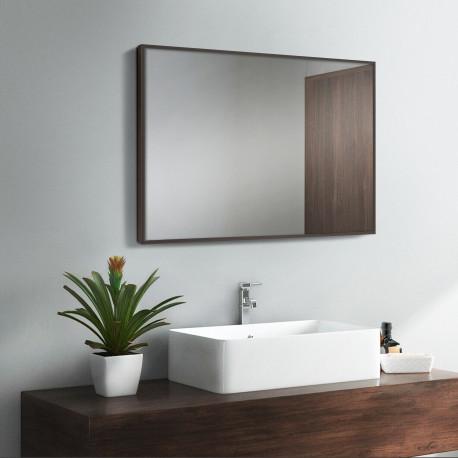 Зеркало в алюминиевой раме ЛДСП Art-com Alum Коричневый
