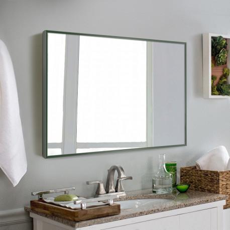 Зеркало в алюминиевой раме ЛДСП Art-com Alum Зеленый
