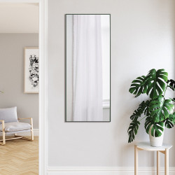 Зеркало ростовое в алюминиевой раме ЛДСП Art-com Alum Зеленое
