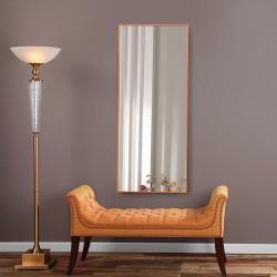Зеркало ростовое в алюминиевой раме ЛДСП Art-com Alum Оранжевое