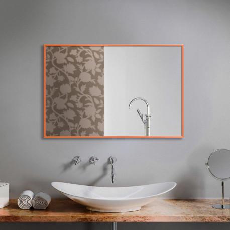Зеркало в алюминиевой раме ЛДСП Art-com Alum Оранжевый