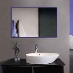 Зеркало в алюминиевой раме ЛДСП Art-com Alum Сиреневый