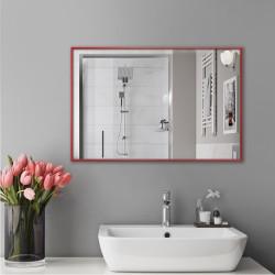 Зеркало в алюминиевой раме ЛДСП Art-com Alum Красный
