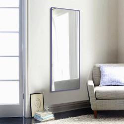 Зеркало ростовое в алюминиевой раме ЛДСП Art-com Alum Сиреневое