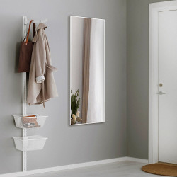 Зеркало ростовое в алюминиевой раме Art-com Alum Белый