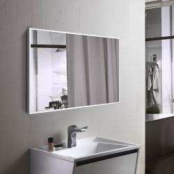 Зеркало в алюминиевой раме Art-com Alum Белый