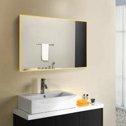 Зеркало в алюминиевой раме Art-com Alum Желтый