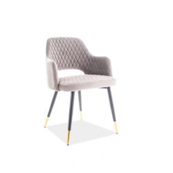 Кресло Franco вельвет серый 14 Signal