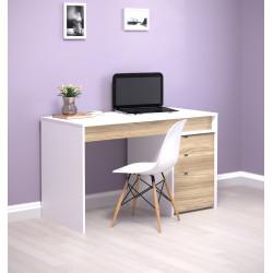 Стол письменный с тумбой Ecoline 130х60 Intarsio