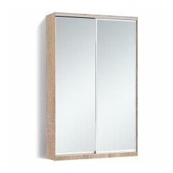 Шкаф-купе Алекса-Д 240х45x120 Дуб сонома фасады Зеркало профиль Серебро