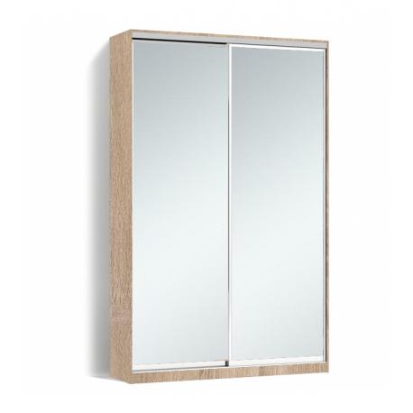 Шкаф-купе Алекса-Д 240х45x130 Дуб сонома фасады Зеркало профиль Серебро