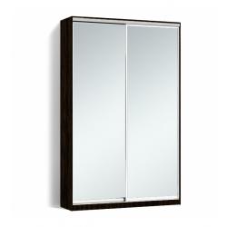 Шкаф-купе Алекса-Д 240х45x130 Венге магия фасады Зеркало профиль Серебро