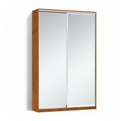 Шкаф-купе Алекса-Д 240х45x130 Орех лесной фасады Зеркало профиль Серебро
