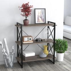 Стеллаж Скиф-3-920 черный металл Loft Design