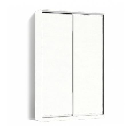Шкаф-купе Алекса-Д 240х45x150 Белый фасады ДСП профиль Серебро
