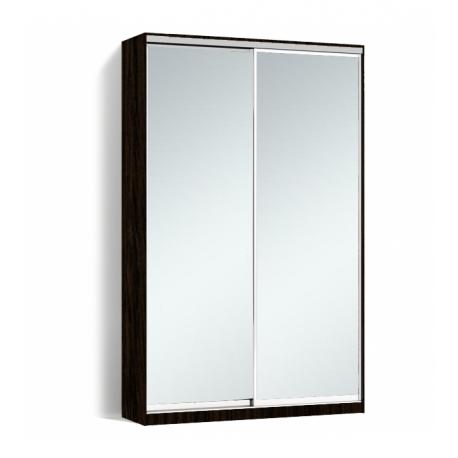 Шкаф-купе Алекса-Д 240х45x150 Венге магия фасады Зеркало профиль Серебро