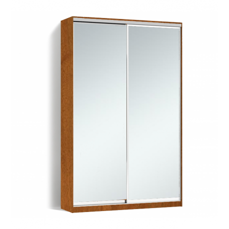 Шкаф-купе Алекса-Д 240х45x160 Орех лесной фасады Зеркало профиль Серебро