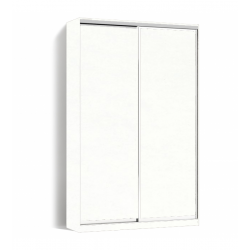 Шкаф-купе Алекса-Д 240х45x170 Белый фасады ДСП профиль Серебро