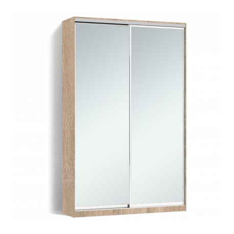 Шкаф-купе Алекса-Д 240х45x180 Дуб сонома фасады Зеркало профиль Серебро
