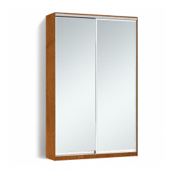 Шкаф-купе Алекса-Д 240х45x180 Орех лесной фасады Зеркало профиль Серебро