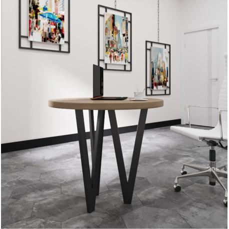Стол Ви-3 (80см) Металл-Дизайн Лофт