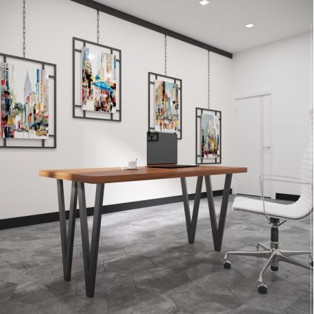 Стол Ви-4 120 Металл-Дизайн Лофт