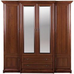 Шкаф четырехдверный с зеркалом и ящиками 4d/2s Соната Гербор