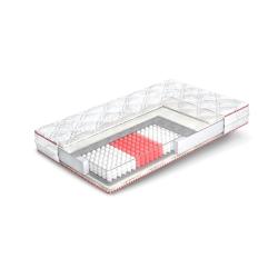 Матрас на блоке независимых пружин с эффектом Зима-Лето Кармин Four Red Матролюкс