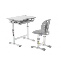 Комплект парта і стілець-трансформери Piccolino III Grey FunDesk