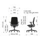 Кресло компьютерное эргономичное Profim Light Up (230SL Grey P61PU SN-1) KreslaLux