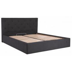 Кровать с мягким изголовьем Бристоль Richman Стандарт Ткань Мисти Dk.Grey