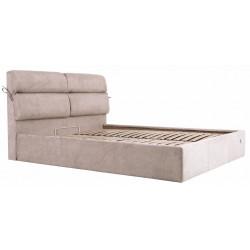 Ліжко з м'яким узголів'ям Единбург Richman Стандарт Тканина Місті Мокко