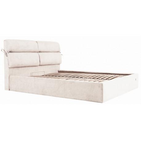 Кровать с мягким изголовьем Эдинбург Richman Стандарт Ткань Мисти Милк