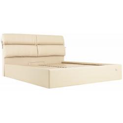 Ліжко з м'яким узголів'ям Единбург Richman Стандарт Кожзам Флай 2207