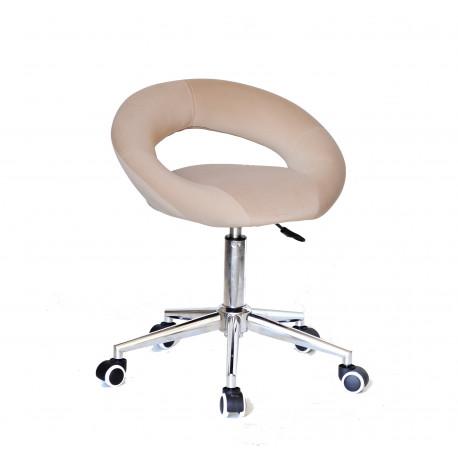 Кресло офисное Onder Mebli Holy Modern Office Бархат Бежевый В-1005