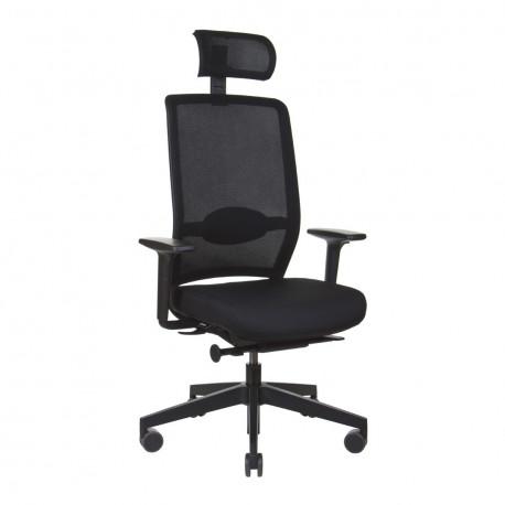 Кресло для высоких людей Profim Veris Net (модель 111 SFL BLACK P51PU) KreslaLux