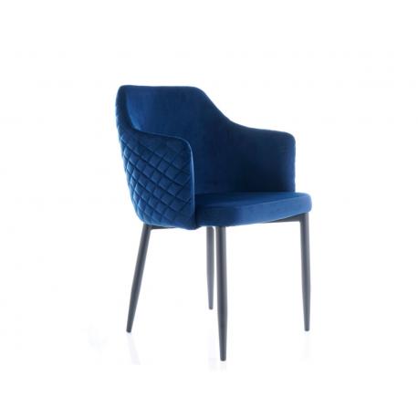 Обеденное кресло Astor velvet синий Signal