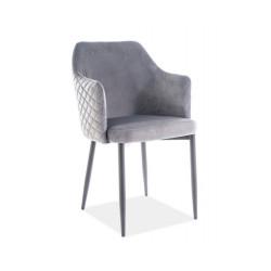 Обеденное кресло Astor velvet серый Signal