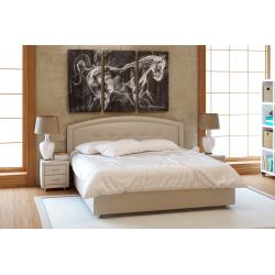 Кровать с мягкими изголовьем Амелия Лефорт